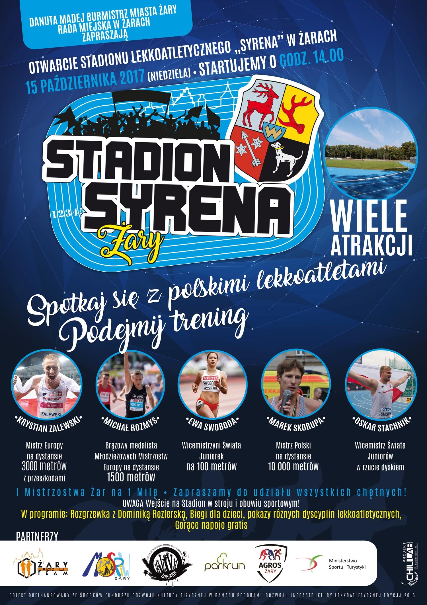 Ilustracja do informacji: Otwarcie Stadionu Lekkoatletycznego Syrena - galeria zdjęć