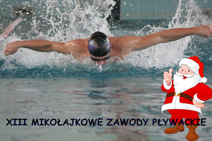 Ilustracja do informacji: XIII Mikołajkowe Zawody Pływackie - galeria zdjęć, wyniki